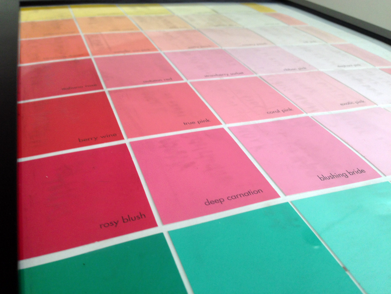Paint Sample Calendar DIY | Chicisms