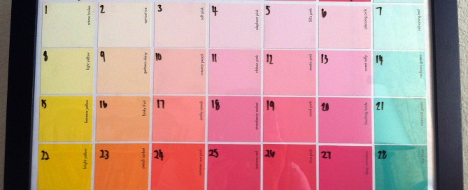 paint sample calendar
