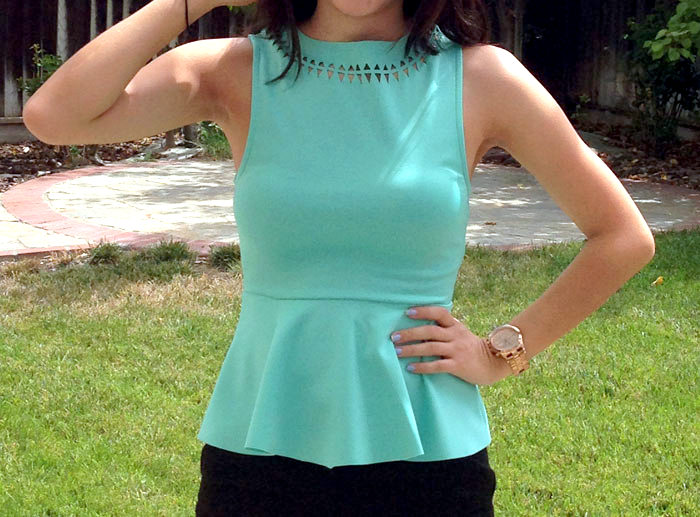 Peplum Business Casual Outfit