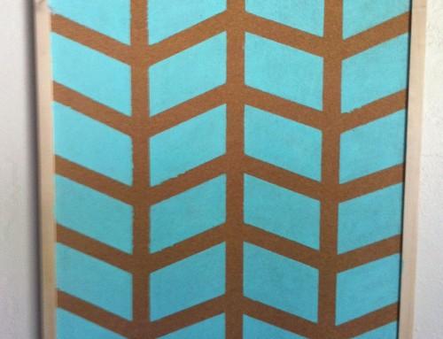 Crafty Chic: Herringbone Bulletin Board